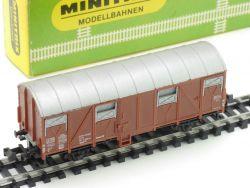 Minitrix 3239 gedeckter Güterwagen Karton 1965-1968 sehr gut OVP