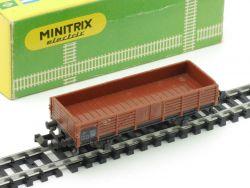 Minitrix 3251 Mittelbordwagen Güterwagen Karton 1965-1968 OVP