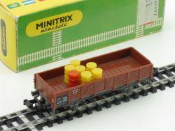 Minitrix 3251 Mittelbordwagen Ladung Karton 1965-1968 OVP