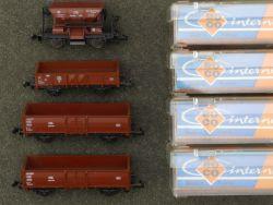Roco 4x Güterwagen 2x 2311 Hochbordwagen 2301 Talbot 2309 OVP