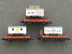 Arnold 3x Zirkuswagen aus Set 0152 Circus Krone Kasse TOP!