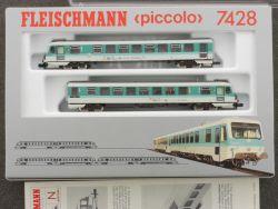 Fleischmann 7428 Triebwagen Nahverkehr BR 628.2 DB TOP! OVP