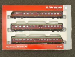 Fleischmann 741202 Triebzug BR 612 VT 12.5 DSS Beleuchtung! OVP
