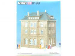Kibri 8199 Bahnbetriebsgebäude Bausatz Modellbahn H0 NEU OVP