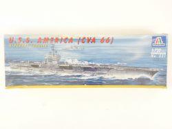 Italeri 521 Flugzeugträger USS America CVA-66 1/720 Kit NEU! OVP