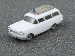 Wiking 1031/1 A Opel Caravan Rotkreuz Aufbau Platingrau
