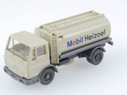 Wiking 810 MB 1617 Mobil Heizoel Tankwagen Hellgelbgrau OPS