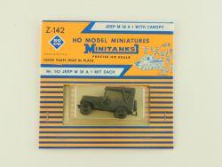 Roco Z-142 Minitanks Willys Jeep M 38 A 1 Canopy Militär USA OVP SG