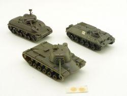 Roco Minitanks Konvolut 3x Panzer Sherman M48 Spz Lang