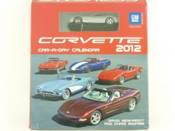 GM 193330 Corvette Car-a-day Kalender 2012 Modellauto Diecast OVP
