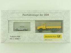 Brekina 0006276 Postfahrzeuge der DDR Trabant P50 IFA S 4000 OVP
