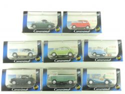 Cararama Set 8x PKW MGB Mini Austin VW BMW Porsche 1:72 TOP OVP