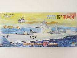 Trumpeter Chinese Destroyer 167 Shen Zhen 1/350 Kit Model NEU! OVP