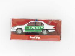 Herpa 042345 Opel Omega Limousine Polizei Blaulicht Einsatz  OVP ZZ