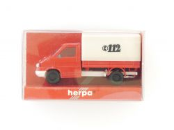 Herpa 042369 VW T4 Pritsche Plane Feuerwehr Einsatzfahrzeug OVP ZZ
