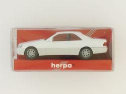 Herpa 021135 MB Mercedes 600 SEC weiß 1:87 Modellauto OVP