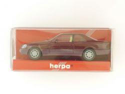 Herpa 021135 MB Mercedes 600 SEC rot 1:87 Modellauto OVP