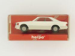 Herpa 2087 Mercedes 560 SEC Coupe W 126 weiß 1:87  OVP