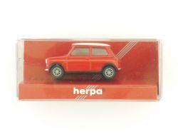 Herpa 021104 Mini Cooper rot Modellauto 1:87 TOP! OVP
