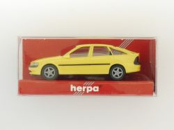 herpa 021906 Opel Vectra Fließheck Modellauto gelb 1:87 OVP