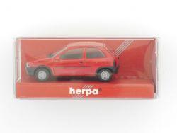 Herpa 021357 Opel Corsa GLS 2türig rot Modelauto 1:87 NEU! OVP