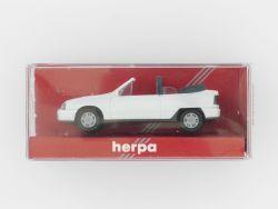 Herpa 2058 Opel Kadett GSi weiß Cabrio Modellauto 1:87 TOP OVP