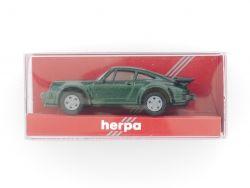 herpa 3060 Porsche 911 Turbo Modellauto grün PKW 1:87 TOP! OVP
