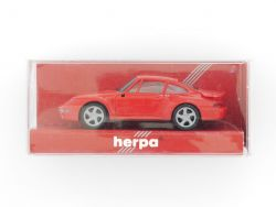 herpa 021890 Porsche 911 Turbo Modellauto rot PKW 1:87 TOP! OVP
