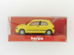 herpa 021364 Renault Clio 16 V Modellauto PKW gelb 1:87 TOP! OVP