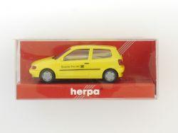 Herpa 042451 VW Polo 2türig POST gelb Modellauto 1:87 H0 OVP
