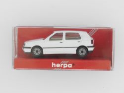 Herpa 021098 VW Golf GL 4türig weiß Modellauto 1:87 H0 OVP
