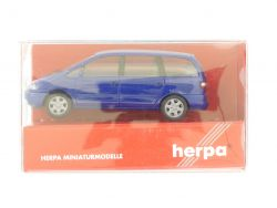 Herpa 021821 Ford Galaxy blau Modellauto 1:87 H0 TOP! OVP