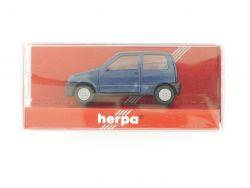 Herpa 031141 Fiat Cinquecento blau Modellauto 1:87 H0 TOP! OVP