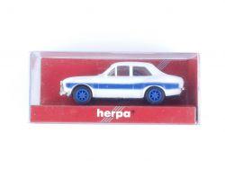Herpa 022774 Ford Escort Racing Weiß Blau Modellauto 1:87 OVP
