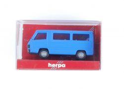 Herpa 4092 Mercedes MB 100 D Bus Blau Modellauto 1:87 H0 OVP