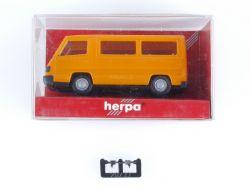 Herpa 041621 MB Mercedes 100 D Bus Orange Modellauto 1:87 OVP