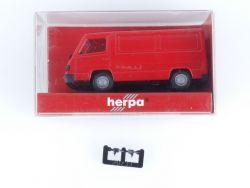 Herpa 041393 MB Mercedes 100 D Kasten Rot Modellauto 1:87 OVP