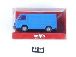 Herpa 041393 MB Mercedes 100 D Kasten Blau Modellauto 1:87 OVP