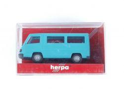 Herpa 041621 MB Mercedes 100 D Bus Türkis Modellauto 1:87 OVP