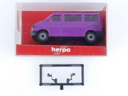 Herpa 042512 VW T4 mit Hecktüren und Fenster Modellauto 1:87 OVP