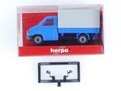 Herpa 041829 VW T4 Pritsche Plane Blau Modellauto 1:87 H0 OVP