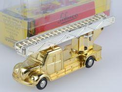 Schuco Piccolo Magirus Feuerwehr Weihnachten 1996 Gold TOP! OVP