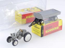 Schuco 05281 Piccolo Lanz Traktor Schlepper mit Anhänger NEU OVP