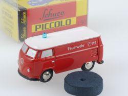 Schuco Piccolo 01324 VW T1 Kasten Bus Feuerwehr lesen! OVP