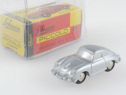 Schuco 01281 Piccolo Porsche 356 A silber ohne Aufdruck TOP OVP