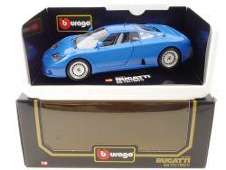 Burago 3035 BBurago Bugatti EB 110 blau MIB Neu NOS OVP SG