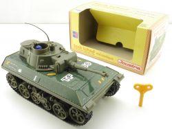Joustra 0701 Blech-Panzer Tchad Tank Militär Uhrwerk tin toy OVP