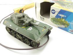 Joustra 3701 Panzer Tchad Tank Militär Fernsteuerung tin toy OVP