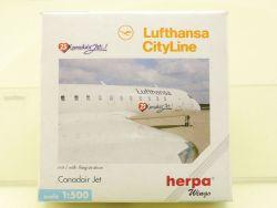 Herpa 511735 Lufthansa 25. Canadair Jet CRJ200 lesen! OVP