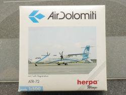Herpa 508025 Air Dolomiti ATR-72 Turboprop Diecast Model OVP